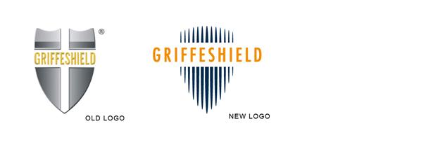 Confronto tra il vecchio logo e il nuovo logo Griffeshield
